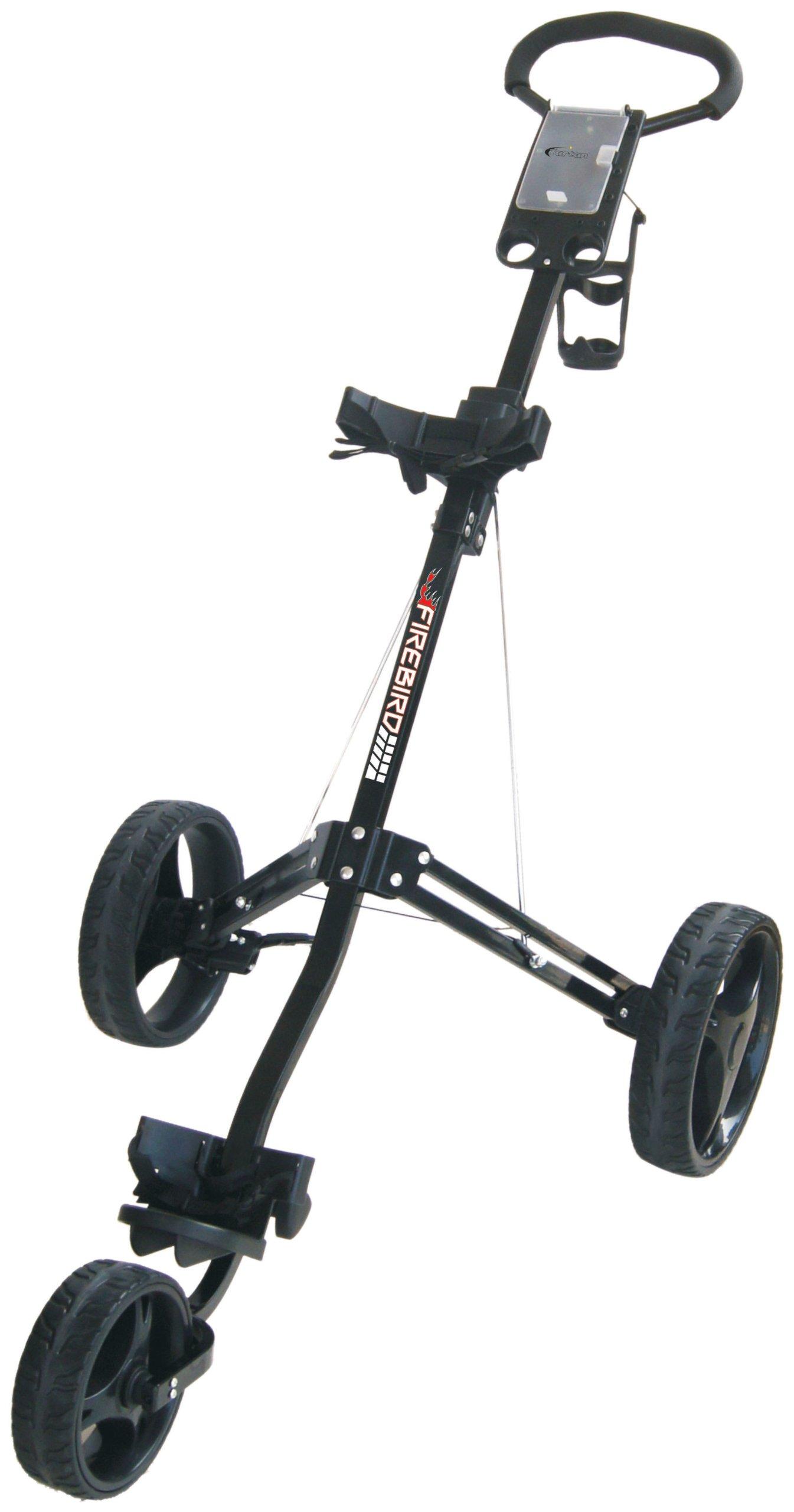 Tartan Firebird Three Wheel Golf Cart (Black)