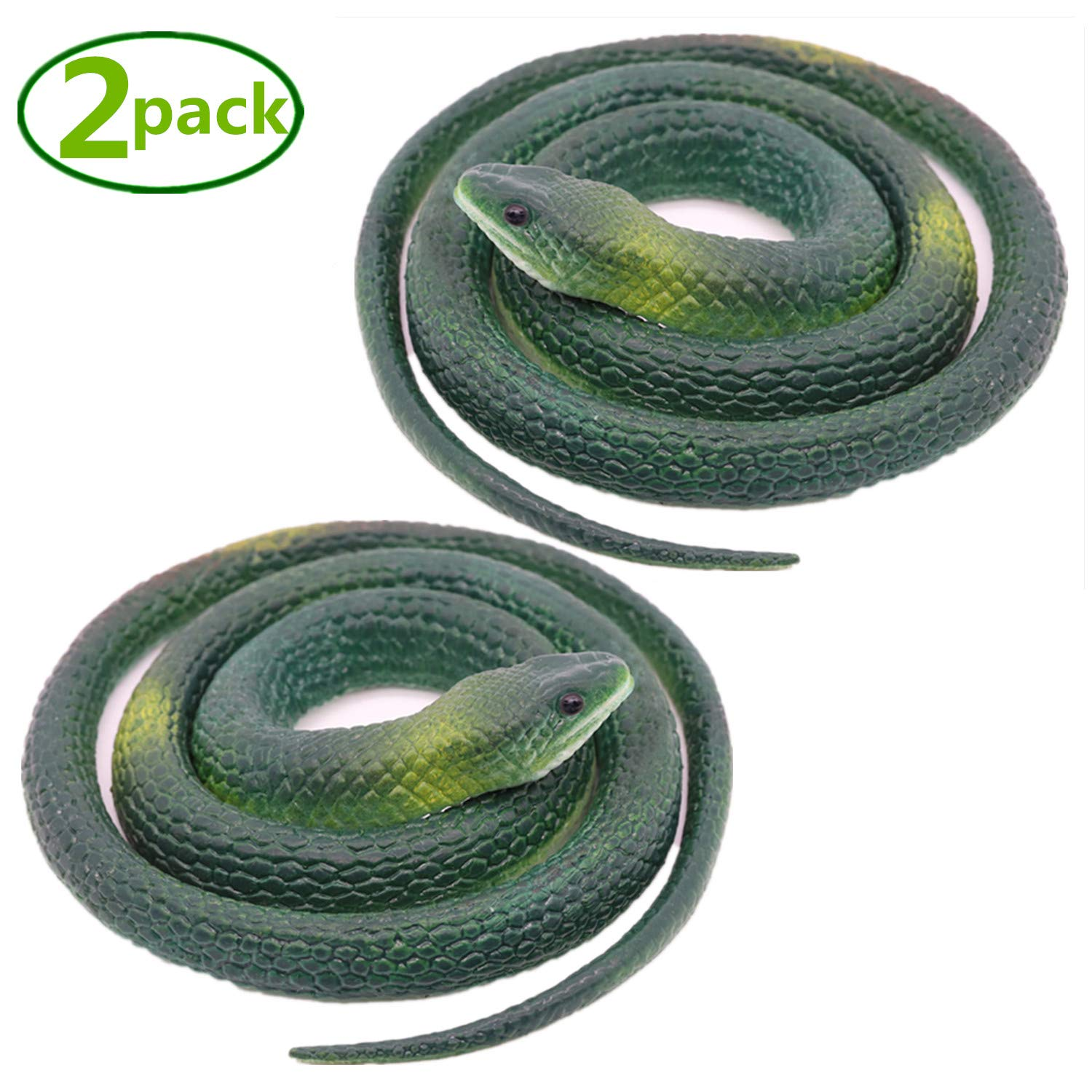 Multicolor Homdipoo Realistic Fake Rubber Toy Snake Black Fake Snakes That Look Real Prank Stuff Cobra Snake 27 Inch Long