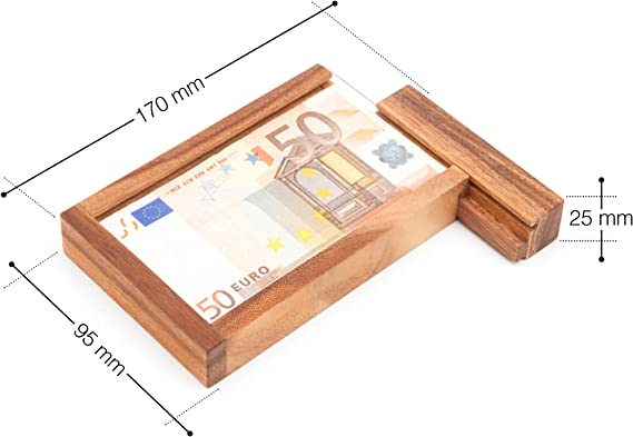 Casa Vivente Caja Mágica para Regalar Dinero Juego de Ingenio de Madera con Cierre Secreto 17 cm x 9,5 cm x 2,5 cm: Amazon.es: Juguetes y juegos