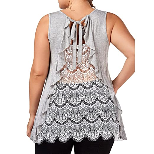 Plus Size Backless Tops