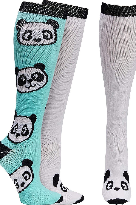 a8cee4645 Amazon.com: Footwear By Cherokee Women's 8-12 Mmhg Print Support Sock Big  Panda: Clothing