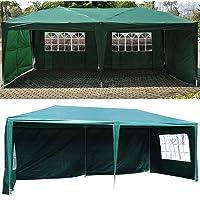 GOTOTOP 3 x 6 M Carpa de Fiesta de PE, Resistente a los Rayos UV, Carpa Pabellón de Jardín para Fiesta, Boda, Barbacoa…