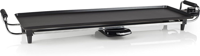 Tristar BP-2970 – Plancha de asar con recubrimiento antiadherente, 1800 W, negro, superficie para cocinar 70 x 23cm