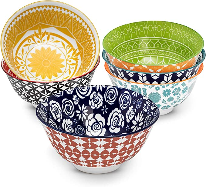 Set of 6 Arcoroc Tampico cereal bowls