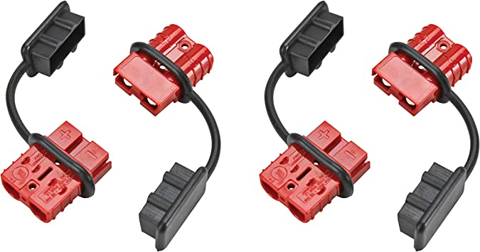 Extreme Max Red Standard 5600.3102.2 Quick Connect Battery Plug for ATV//UTV Winches-2-Pack