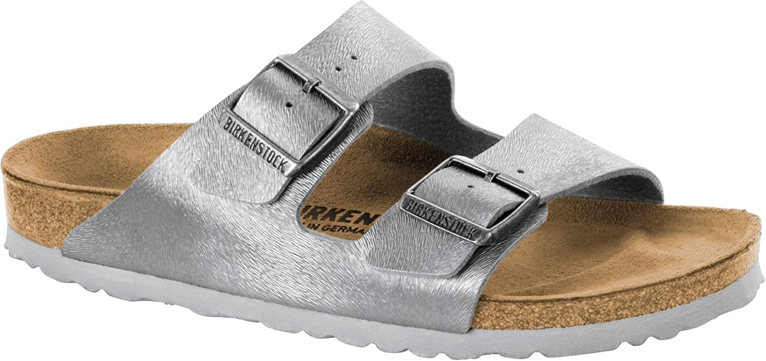 BIRKENSTOCK Damen Arizona Sandalen  38 EU|Grau (Animal Fascination Gray Animal Fascination Gray)
