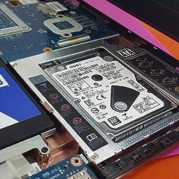 QUMOX Adaptador de 2do HDD SSD SATA Bay 12.7mm a SATA: Amazon.es ...