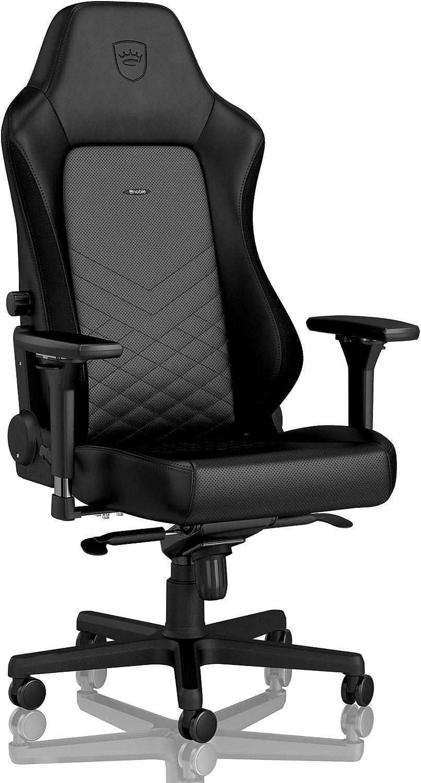 noblechairs Hero Chaise de Gaming - Chaise de Bureau - Cuir Synthétique PU - Noir