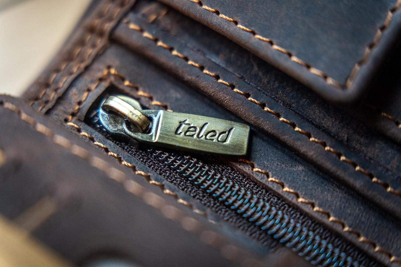 Portefeuille en cuir pour homme avec livre /électronique pour lentretien du cuir Portefeuille TALED/® Men Brown Lion Garantie 2 ans Fabriqu/é en cuir vintage de haute qualit/é avec protection RFID