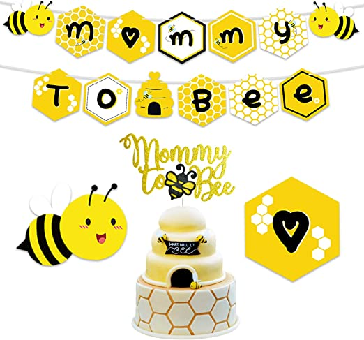 NICROLANDEE Bee and Honey Baby Shower Decoration Mommy to Bee Card Banner Gar...