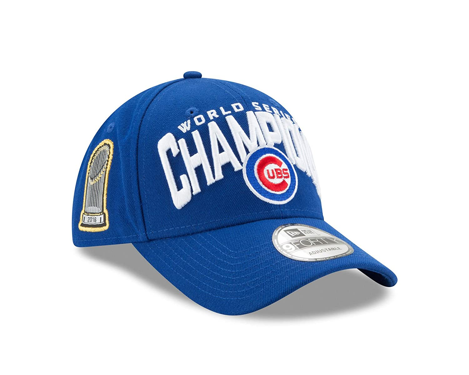 Amazon.com   Chicago Cubs 2016 World Series Trophy New Era 9Forty  Adjustable Hat   Sports   Outdoors c96a5860787