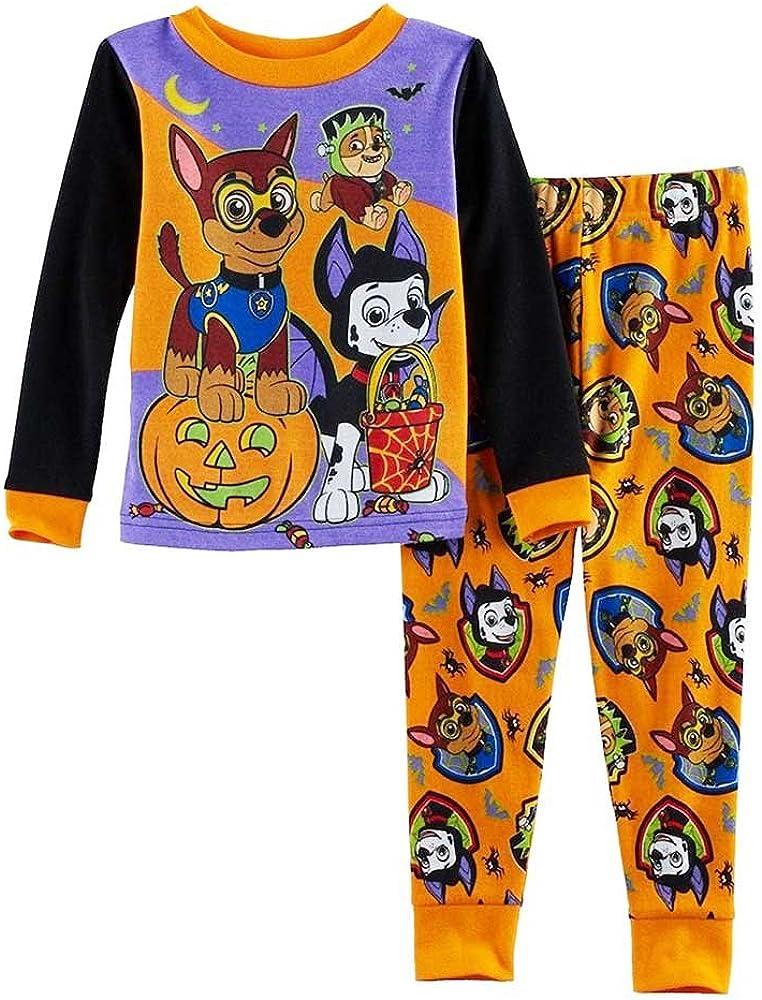Paw Patrol Pajamas 2-Piece Halloween Glow in The Dark PJs for Toddlers