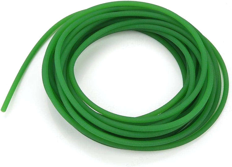Insmart Correa Redonda de Poliuretano PU de Superficie Rugosa de 1 Pieza para transmisi/ón de transmisi/ón 5 mm 10 m Verde