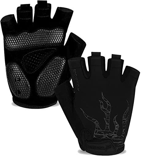 Silicone Cycling Gloves MTB Road Riding Gloves Anti-slip Anti-sweat Half Finger