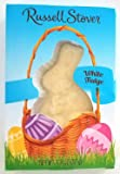 Russell Stover (1 Box) White Fudge Easter Bunny Chocolate Candy - Net Wt. 1.3 oz / 37 g