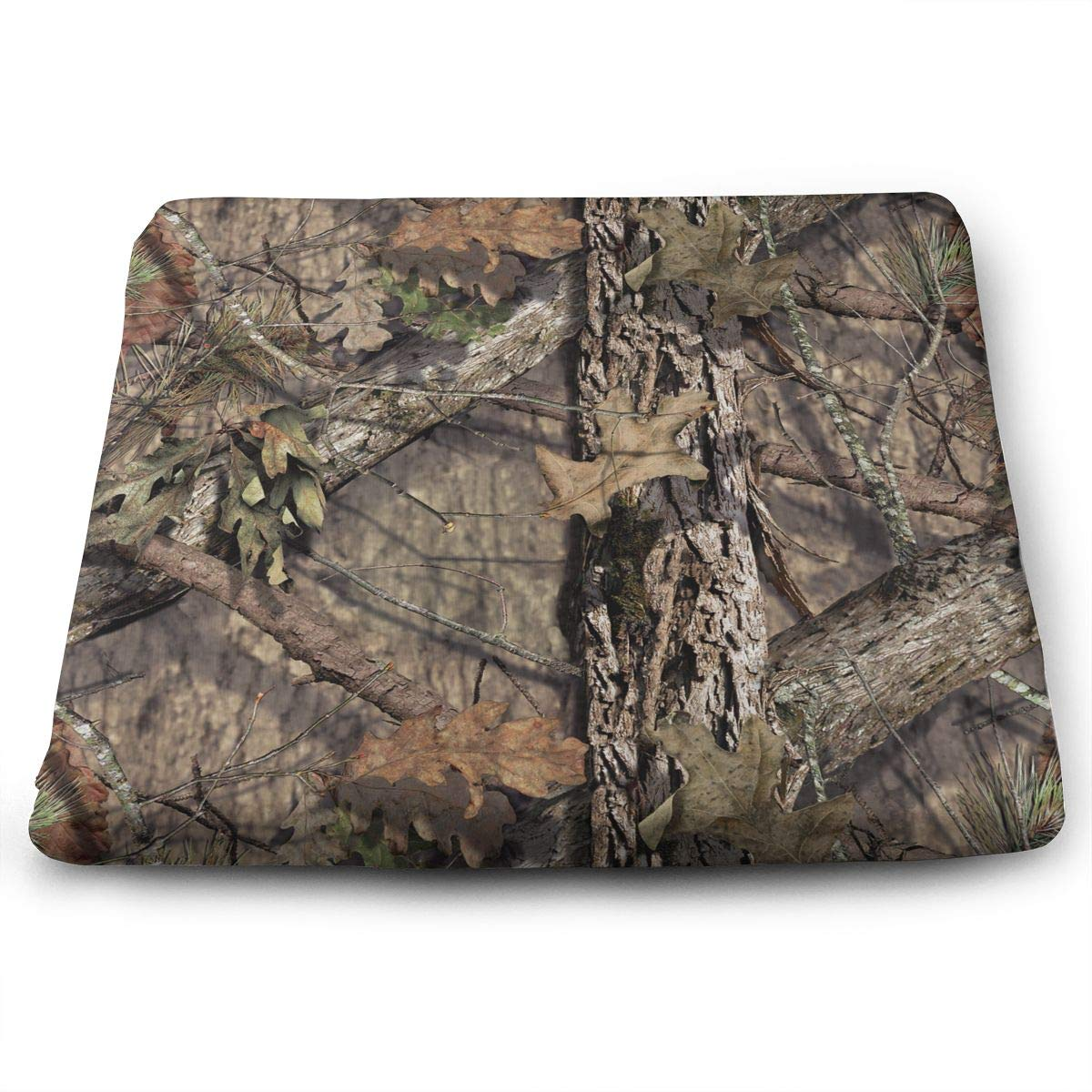 TLDRZD Novelty Perfect Indoor Outdoor Square Seat Cushion,Camouflage Camo Chair Pads Memory Foam Filled for Patio,Office,Kitchen,Desk,Travel,Kids,Yoga