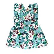 RuffleButts Baby/Toddler Girls Vintage Floral Dress w/Cross Back Ruffles - 3-6m