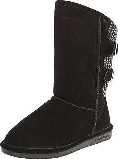 Bearpaw Womens Knitallic: 14 In. Adj. Boot (Bronze, 6) Bearpaw