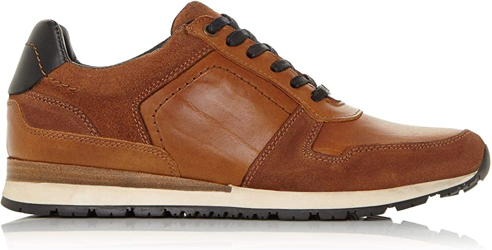 Dune Mens Tenor Lace Up Trainers Flat