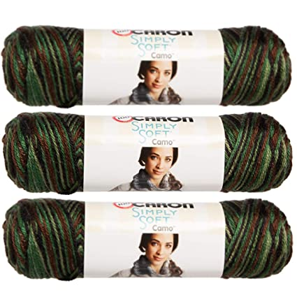 500085e49 Amazon.com  Simply Soft Camo Yarn-Renegade Camo