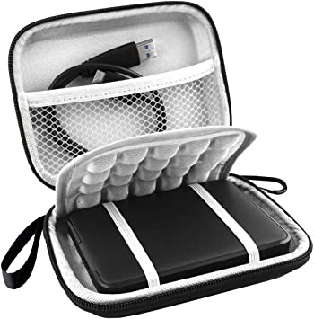 Lacdo EVA Shockproof Carrying Case for Western Digital My Passport Studio Ultra Slim Essential WD Elements SE 1TB 2TB 4TB 5TB USB 3.0 Portable External Hard Drive Travel Case Storage Large Size Blue