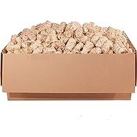 ORANGE DEAL 5,0 kg Kamin- und Grillanzünder Anzünder (Ofenanzünder, Anzündwolle, Anzündhilfe) aus Premium Holzwolle und Wachs - schnell und stark