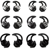 TEEMADE 12 Pieces for Bose Earbuds Replacement Tips Silicone Covers for Bose QC30 QuietControl 30 QC20 SIE2 IE3…