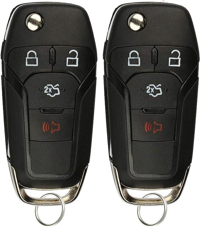 KeylessOption Keyless Entry Car Remote Uncut Ignition Flip Key Fob for Ford Fusion N5F-A08TAA