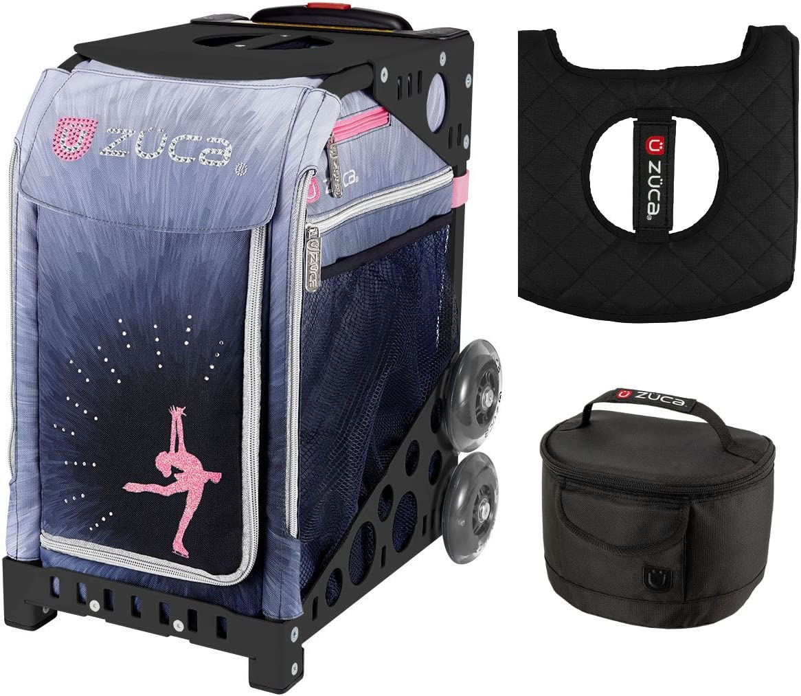 Zuca Ice Dreamz Luxインサートバッグ & ブラックNFWフレーム ランチボックスとシートクッション付き