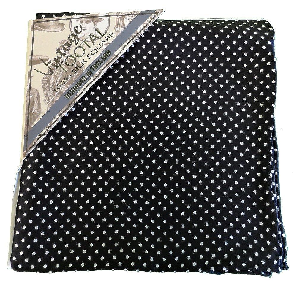Tootal Mens Black/White Pin dot Pocket Square …