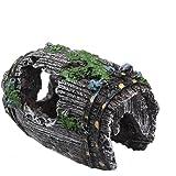 Tefamore - Grotta per acquario in resina, paesaggio decorativo