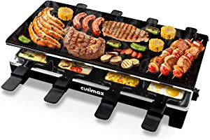 CUSIMAX Raclette Grill Electric Grill Table, Portable 2 in 1 Korean BBQ Grill Indoor