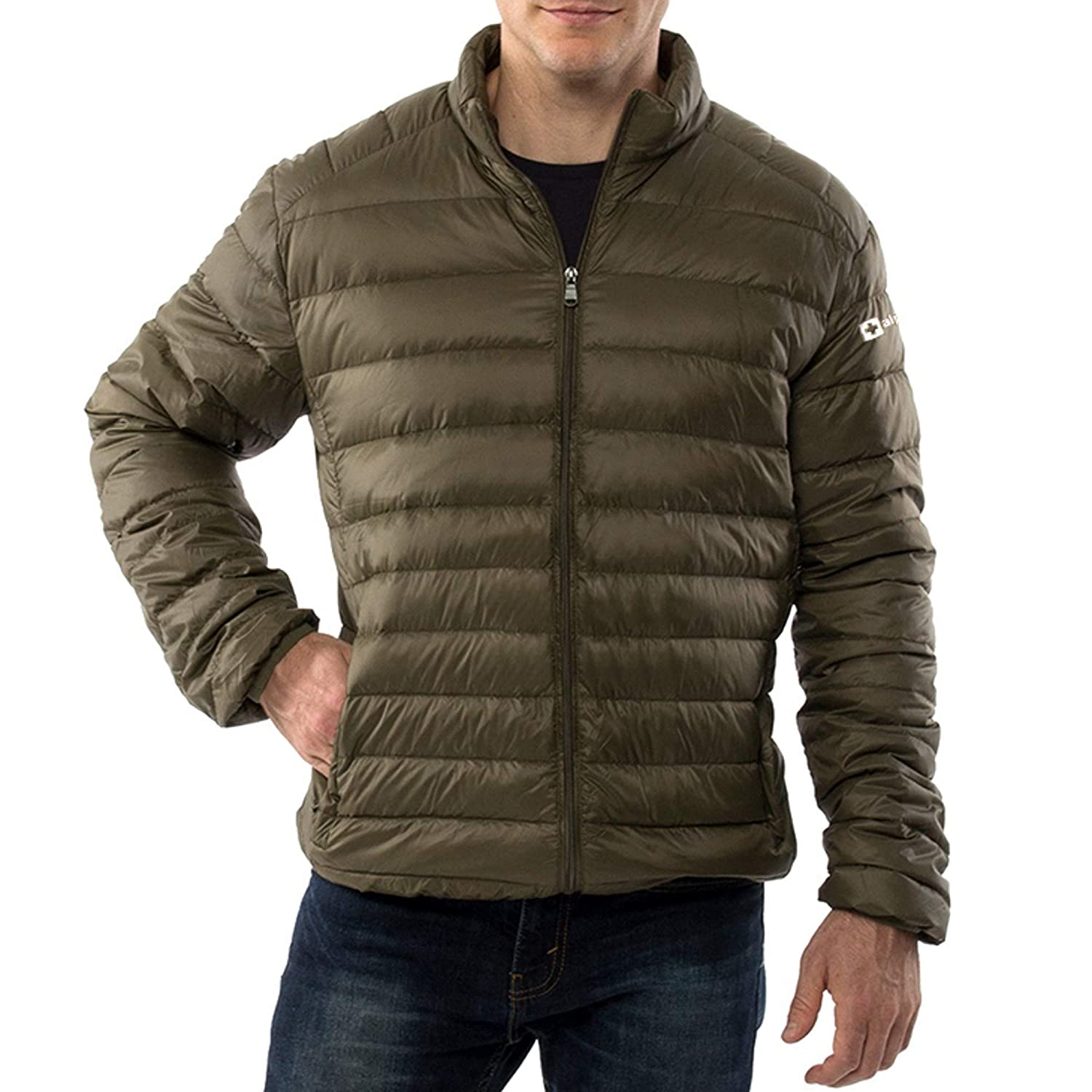 31250d027f5 alpine swiss Niko Mens Down Jacket Puffer Coat Packable Warm Insulation &  Feather Light Weight at Amazon Men's Clothing store: