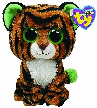 Ty 7136911 Beanie Boos - Tigre de peluche Stripes tamaño grande, 21,5 cm