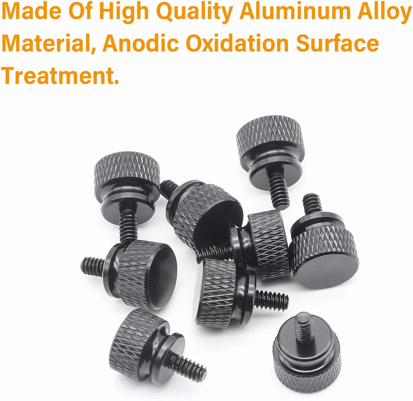 Box Qty 100 BC-0607TKWAL by Shorpioen 6-32X7//16 Knurled Thumb Screw with Washer Face Full Thread Aluminum