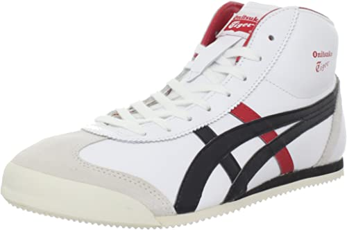 onitsuka tiger mexico 66 mid runner black knitted