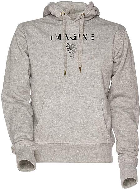 Imaginando Una Desvanecimiento Continuar Unisexo Hombre Mujer Sudadera con Capucha Gris Mens Womens Hoodie Sweatshirt Grey