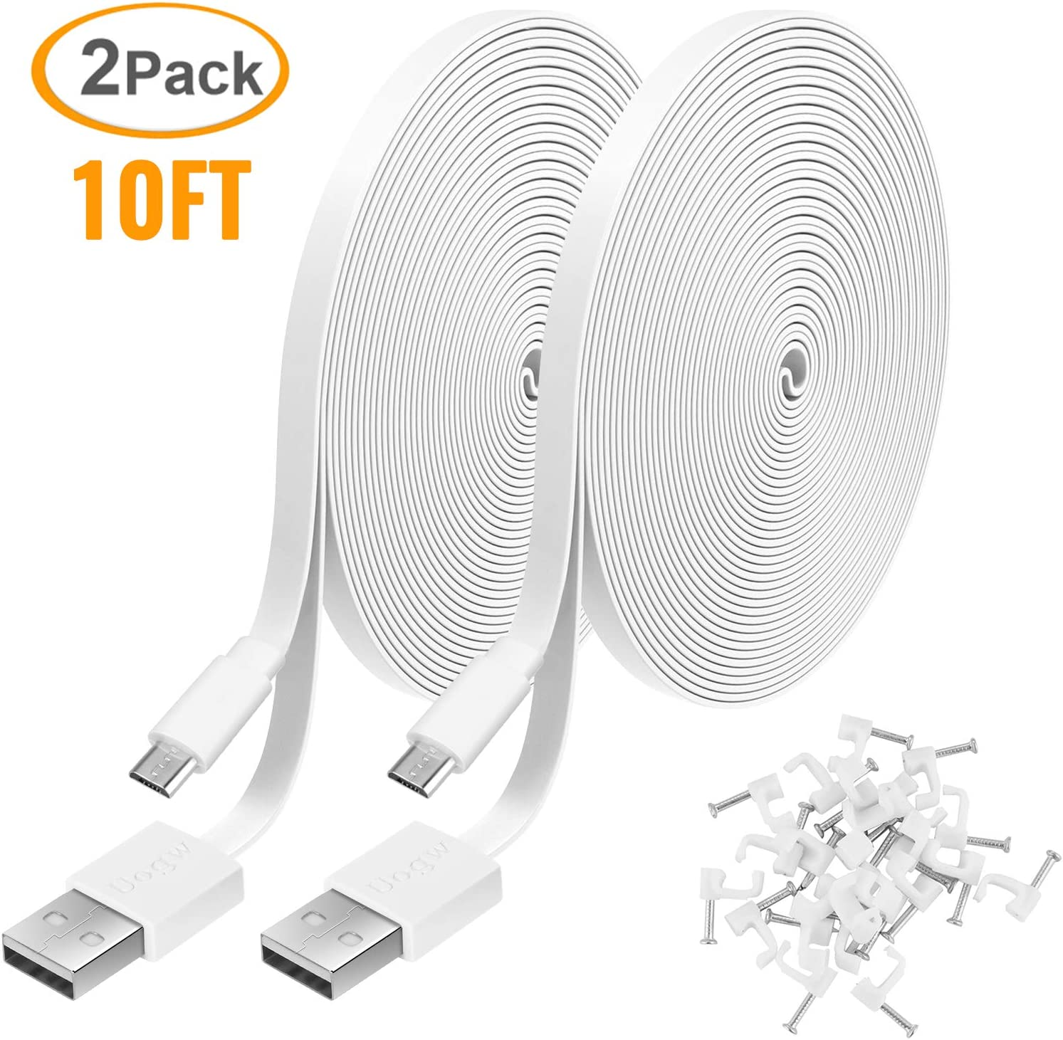 Blink XT Cam BENSN Extension Cable 10Ft Wyze Cam Pan Kasa Cam Nest Cam 5V Camera USB Power Cord for WyzeCam Dropcam 2 Pack Cloud Cam YI Dome Wireless Wi-Fi HD Camera