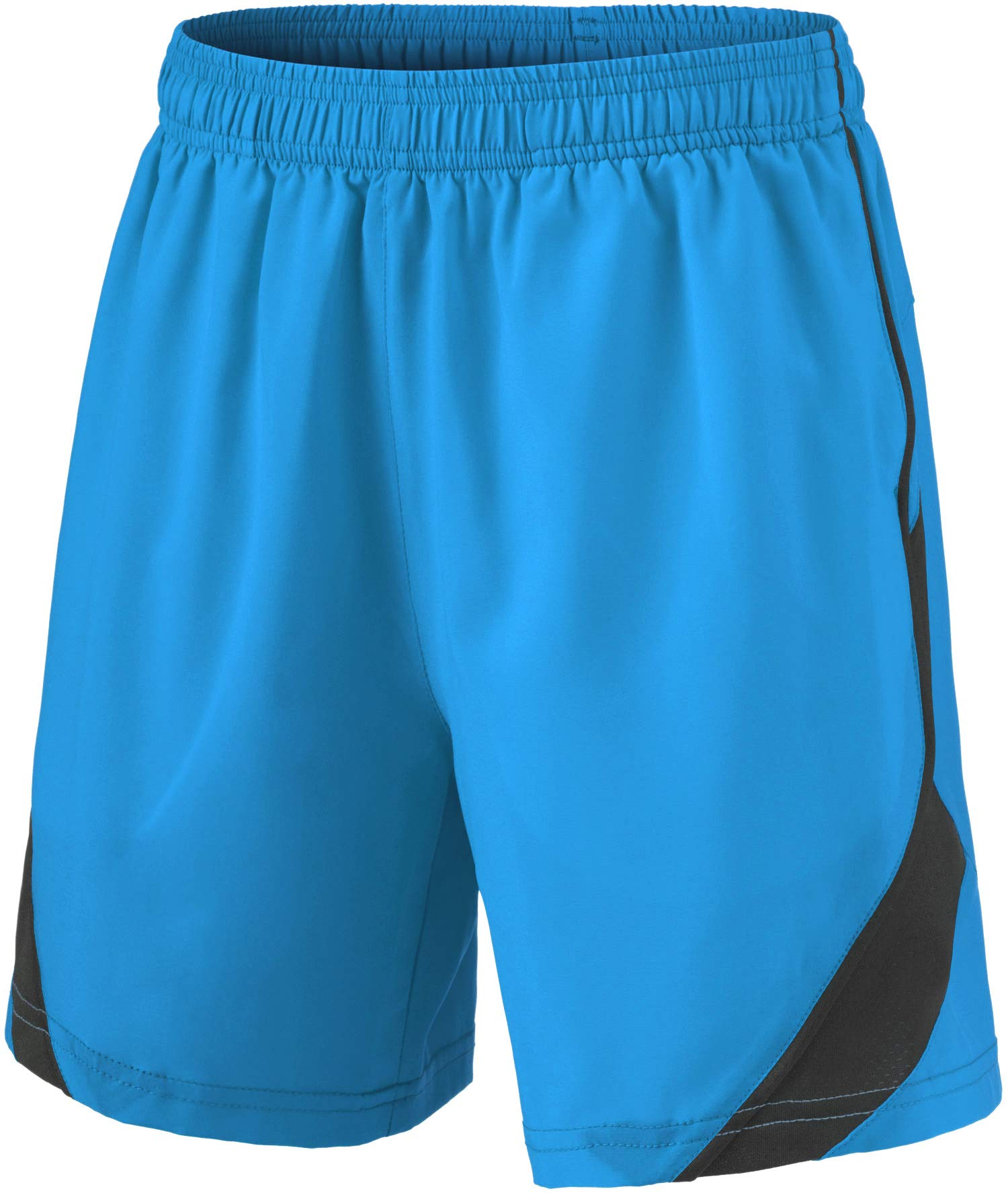 TSLA Boy's Active Shorts Sports Performance Youth HyperDri II w Pockets, Stretch Pace(kbh76) - Sky Blue, Youth X-Large by TSLA