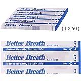 Incutex 50x cerotti nasali per non russare cerotti per naso antirussamento per respirare meglio, taglia L