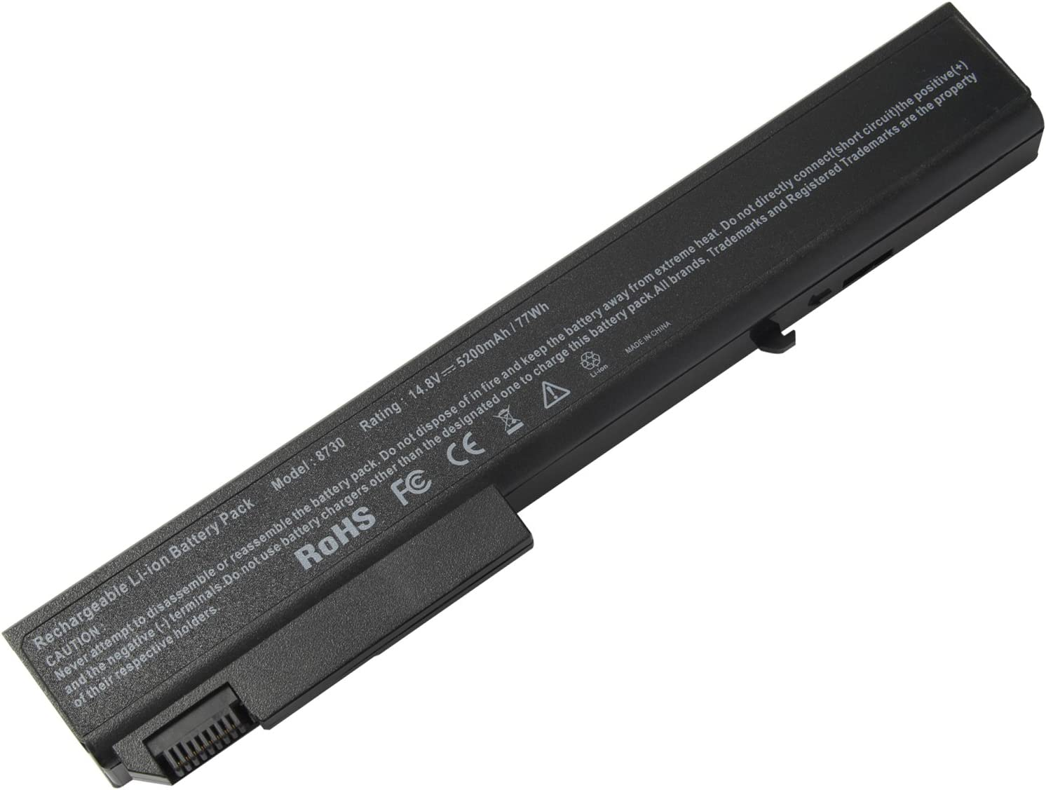 ARyee 8530P Laptop Battery Compatible with Hp EliteBook 8540P 8530P 8740W 8530W 8540W 8730W 493976-001 HSTNN-LB60 HSTNN-XB60 KU533AA(5200mAh 14.8V)