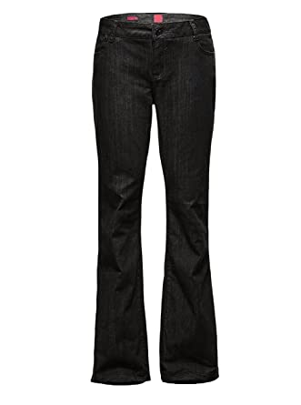 Womens Plus Size Relaxed Bootcut Baggy Leg Jeans at Amazon Women's ...