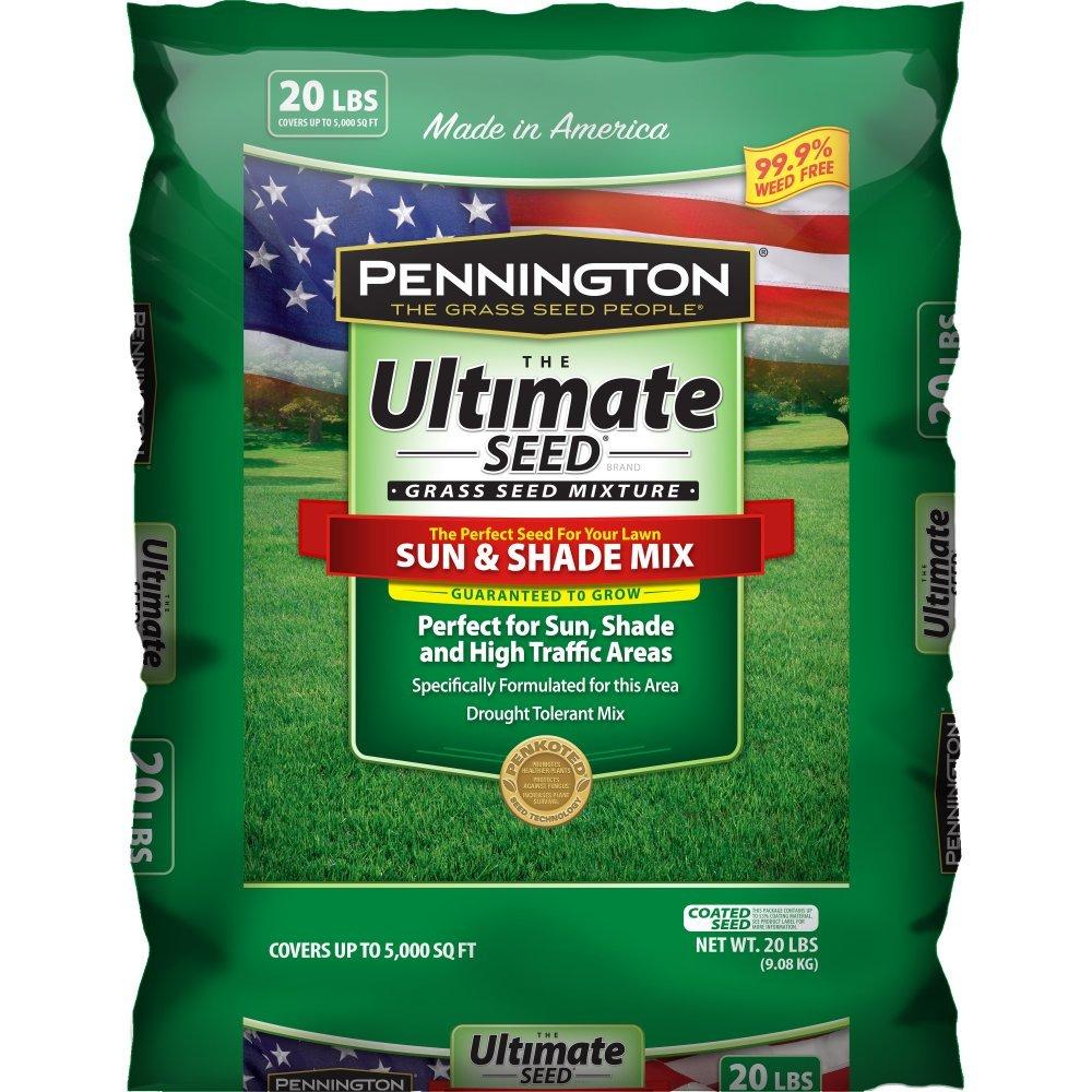 Ultimate Sun Shade Grass Seed Spreader Mixture North Garden Lawn Lush Green 20lb