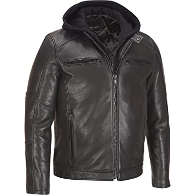 Wilsons Leather Mens Leather Jacket W/ Hood at Amazon Men&39s