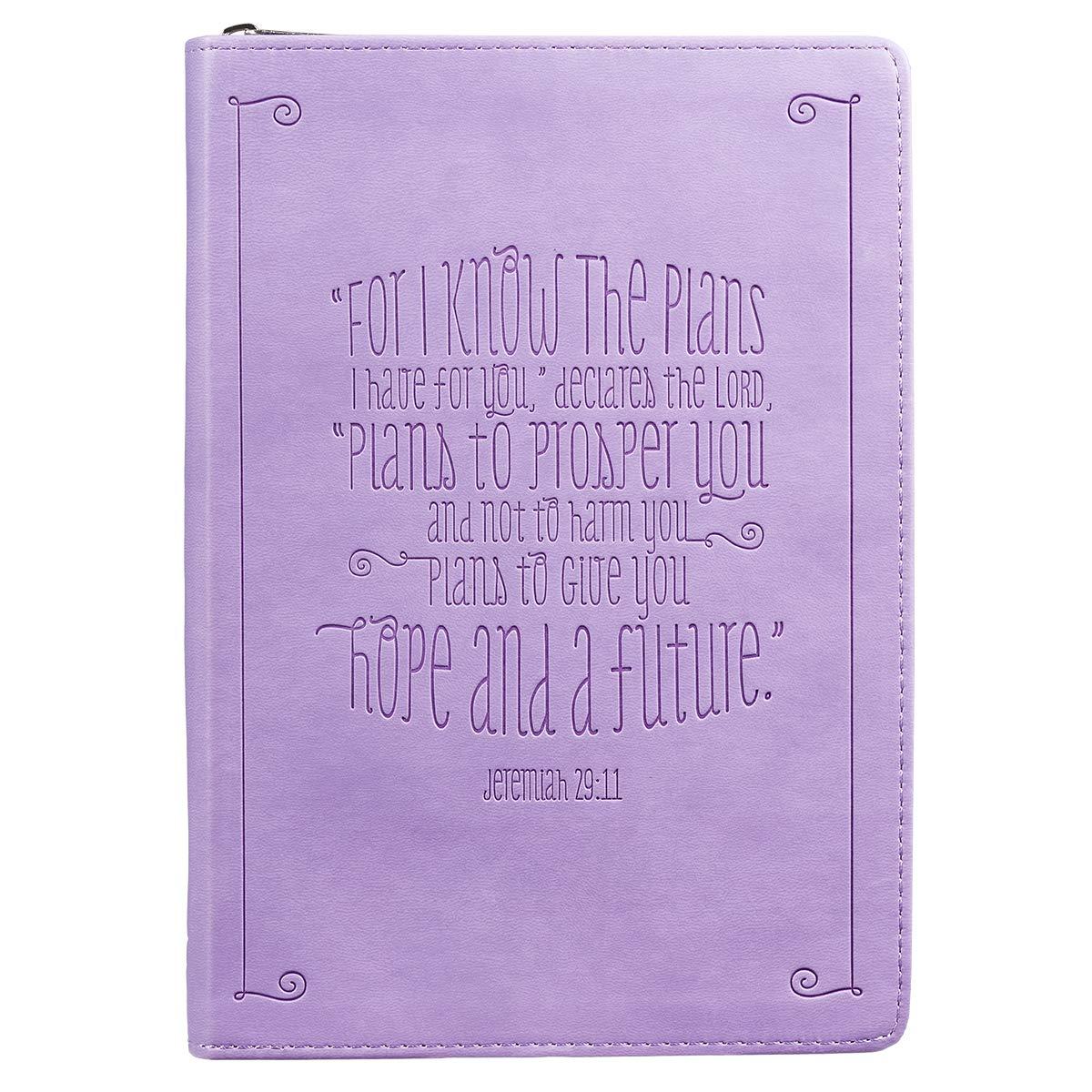 Download Jeremiah 29:11 Zippered Purple Flexcover Journal pdf epub