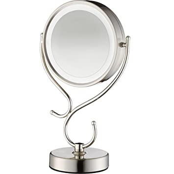 Amazon conair round shaped led double sided lighted makeup conair round shaped led double sided lighted makeup mirror with 3 way touch control and mozeypictures Image collections