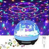 XIAOKOA Disco Party Light,Luci da discoteca per feste Lampada per attività all'aperto Illuminazione per palcoscenico Forniture per DJ Attivato per matrimoni