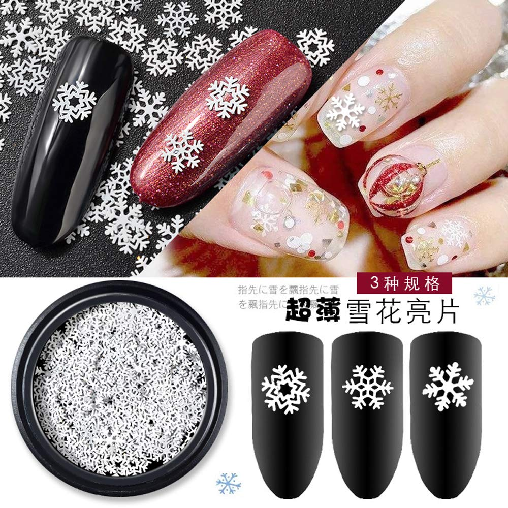 5x5mm Christmas Snowflakes Ultrathin Nail Sequins Nail Flakes Sequins 2018  Best Selling DIY Nail Accessories Decoration e0e4c6db4dc3