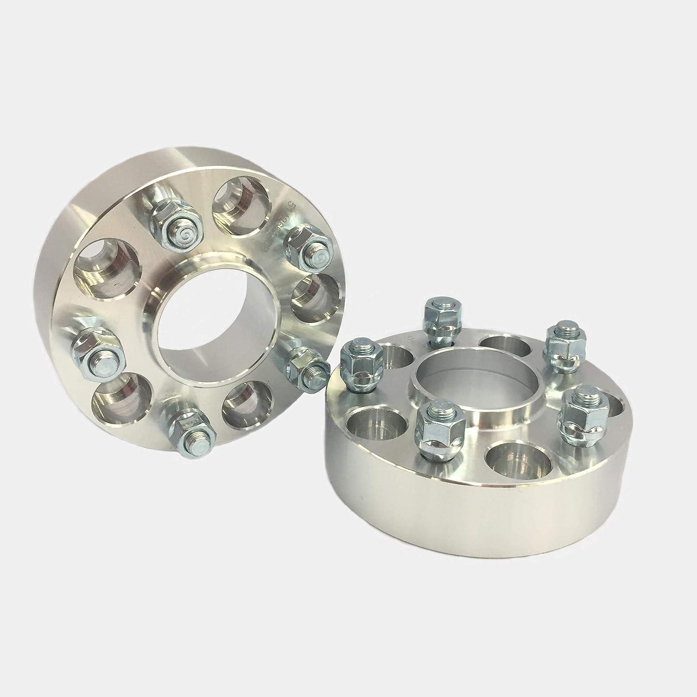 Customadeonly 2 Pieces 2 50mm Hub Centric Wheel Spacers Bolt Pattern 5x114.3 to 5x114.3 5x4.5 Mazda Mitsubishi EVO 8 EVO 9 10