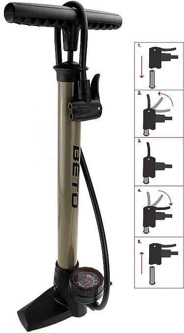 Luftpumpe für Fahrrad mit allen Ventilen *TOP* Camden Gear Fahrradpumpe